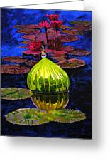 Lilies And Glass Reflections Greeting Card