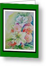 Lilies And Mums Greeting Card
