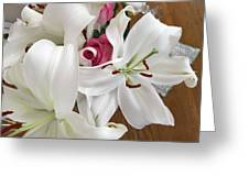 Lilies And Roses Greeting Card