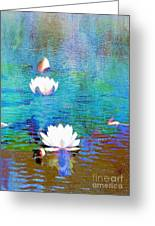 Lilies In Abstract Greeting Card