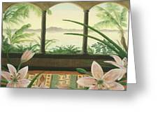 Lilies In Paradise Greeting Card