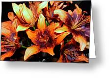 Lilies In The Shadow Greeting Card