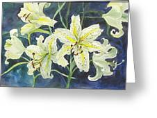 Lilies So White Greeting Card