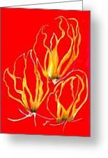 Lilies That Climb IIi Greeting Card