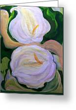 Lilies With Chiffon Greeting Card