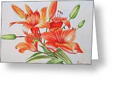 Lilies.2007 Greeting Card