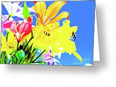Lillies In Praise Greeting Card