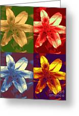 Lillies Of Four Greeting Card