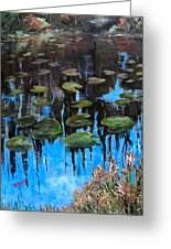 Lilly Pads And Reflections Greeting Card