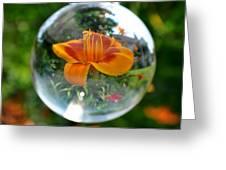 Lilly Thru A Crystal Ball Greeting Card