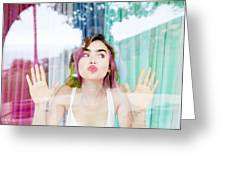 Lily Collins Greeting Card
