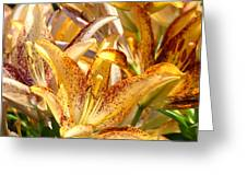 Lily Flower Garden Art Prints Canvas Floral Lilies Baslee Troutman Greeting Card