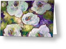 Lily Garden With Shadows And Light Greeting Card