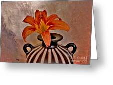 Lily In A Peruvian Vase Greeting Card