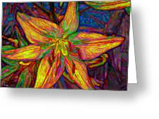 Lily In Abstract Greeting Card