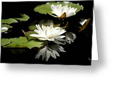 Lily Of The Lake Watercolor Greeting Card
