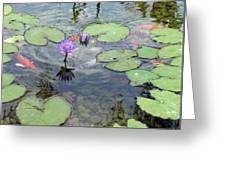 Lily Pads And Koi 1 Greeting Card