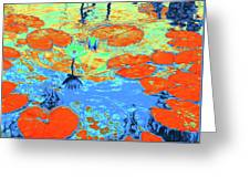 Lily Pads And Koi 10 Greeting Card