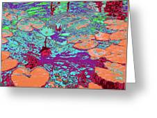 Lily Pads And Koi 24 Greeting Card