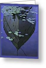 Lily Pads And Reflection Greeting Card