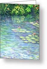 Lily Pads Triptych Panel Three Of Three Greeting Card