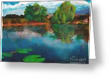 Lily Pond A La Torrie Greeting Card