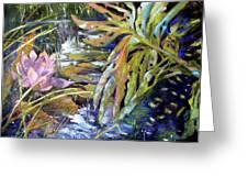 Lily Pond Light Dance Greeting Card