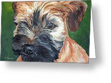Lily, Soft Coated Wheaten Puppy Greeting Card