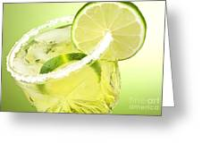 Lime Cocktail Drink Greeting Card