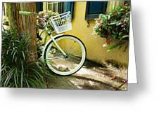 Lime Green Bike Greeting Card