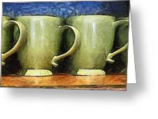Lime Green Cups Greeting Card