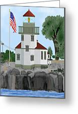 Lime Kiln Light On San Juan Island Greeting Card