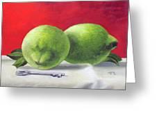 Limes Greeting Card by Tim Johnson