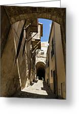 Limestone And Sharp Shadows - Old Town Noto Sicily Italy Greeting Card