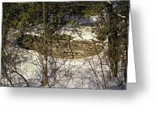 Limestone And Snow Greeting Card by Richard Mitchell