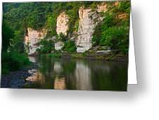 Limestone Bluffs Along Upper Iowa Greeting Card