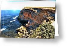 Limestone Cliff Greeting Card
