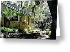 Limestone Home In The Trees Greeting Card