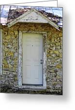 Limestone House Door Greeting Card
