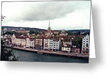 Limmatquai In Zurich Switzerland Greeting Card