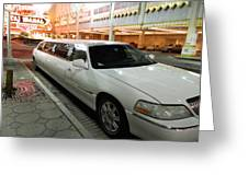 Limo Waiting Greeting Card