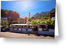 Limone Sul Garda Square And Church View Greeting Card