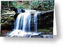 Lin Camp Branch Waterfall 1983 Greeting Card