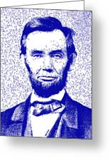 Lincoln Abstract Blue Greeting Card