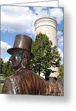 Lincoln At The Tower Greeting Card