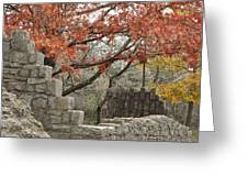 Lincoln Bridge In Fall Greeting Card
