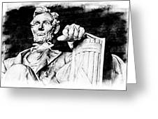 Lincoln Carved Greeting Card