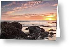 Lincoln City Beach Sunset - Oregon Coast Greeting Card