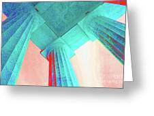 Lincoln Column Blue Greeting Card