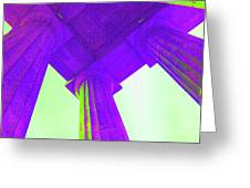 Lincoln Column Purple Greeting Card